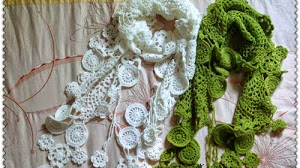 Original pashmina o estola al crochet