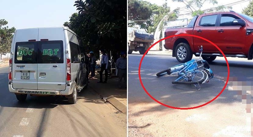 Gia Lai: Bị xe khách kéo lê hàng chục mét ngay trước cổng trường, nữ sinh lớp 7 tử vong thương tâm