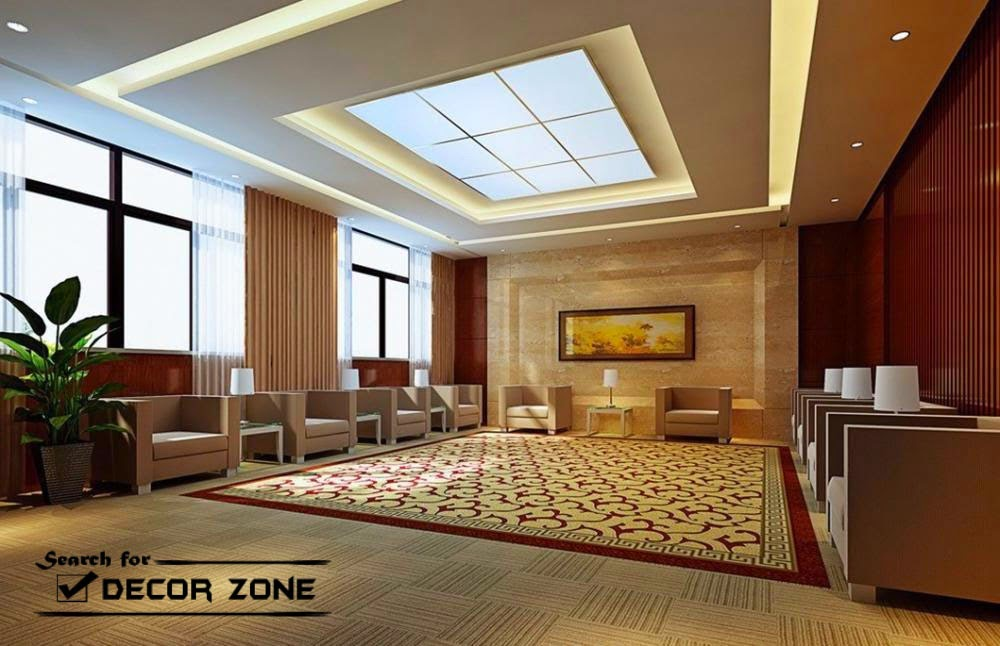 Plasterboard Suspended Ceiling System For Hall Interior