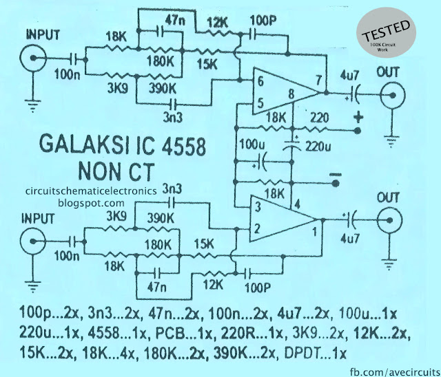IC 4558 Galaksi Circuit Diagram