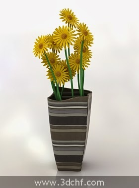3d flower vase decoration
