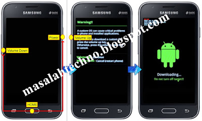 "Cara Masuk Download Mode ""Cara Flash [Instal Ulang] Samsung Galaxy J1 SM-J100H"""