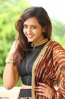 Lasya looks super cute in black choli Saree at Raja Meru Keka Press Meet ~  Exclusive 005.JPG