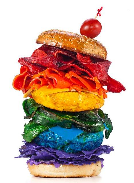 Burger sedap, Burger pelangi,