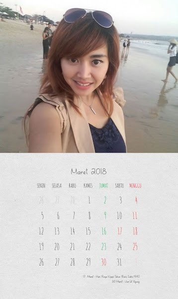 Desain Kalender Indonesia 2018 - Maret
