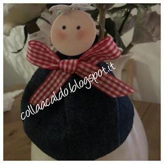 Angioletto Albero di Natale in jeans tutorial  colla a caldo blog