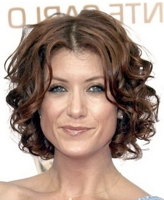 Curly short haircut for women over 50
