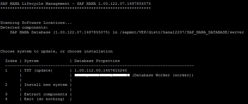 SAP Basis: HANA Database 1 0 - Update from SPS11 to SPS12