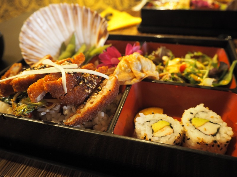 Bento box at Oshibori Dundee
