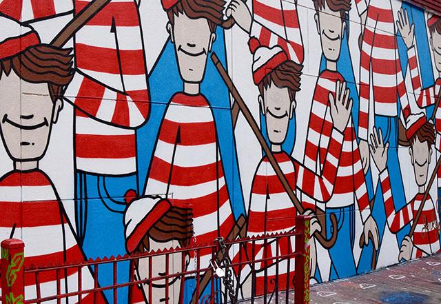 NYC Street Art- Where's Waldo-Incarcerated Jerkface-L'asso Pizza-SoHo-Nolita street art-travel blog