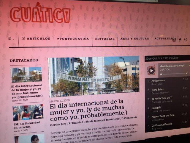Cuática, revista digital que busca acercar el feminismo desde lo cotidiano