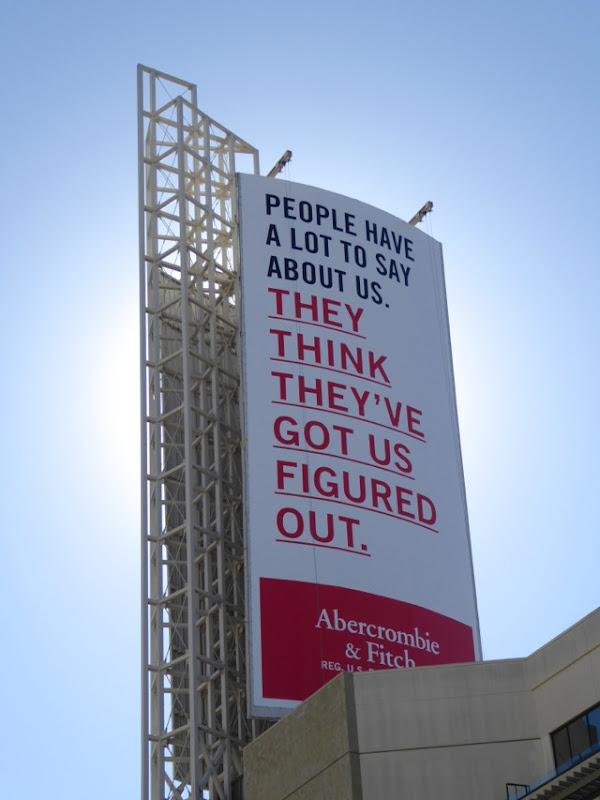 Abercrombie Fitch 2016 rebrand billboard