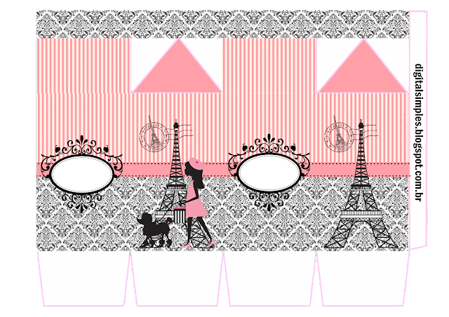 Beautiful Paris Free Printable Milk Box.