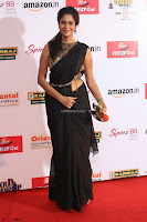 Sindhu looks fabulous in Black Saree designer choli at Mirchi Music Awards South 2017 ~  Exclusive Celebrities Galleries 061.JPG