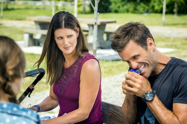 ALONG CAME A NANNY (2014). Cameron Mathison stars with Sarah Lancaster in this Hallmark stand-alone mystery. Text © Rissi JC