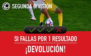 sportium Segunda División: Combinada 'con seguro' 11-12 noviembre