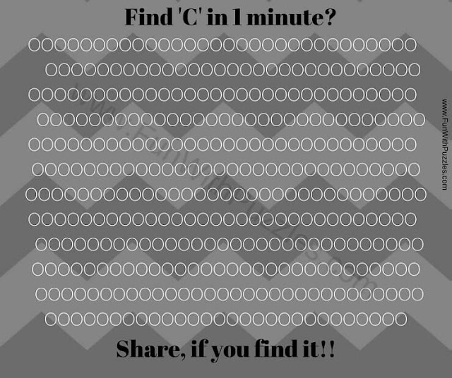 Can you Find C in 1 minute Picture Puzzle