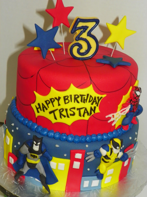 Plumeria Cake Studio Superhero Birthday Cake Featuring