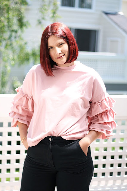 Casual outfit inspiration, fashion blogger, affordable fashion, womenswear, ruffles trend, spring