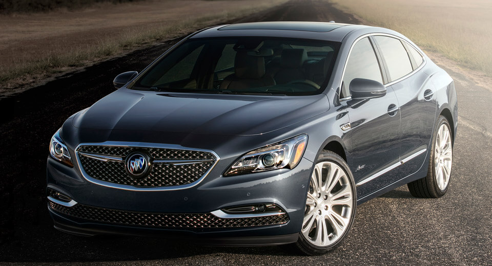 Presents the new Buick LaCrosse in luxurious versions of Avenir