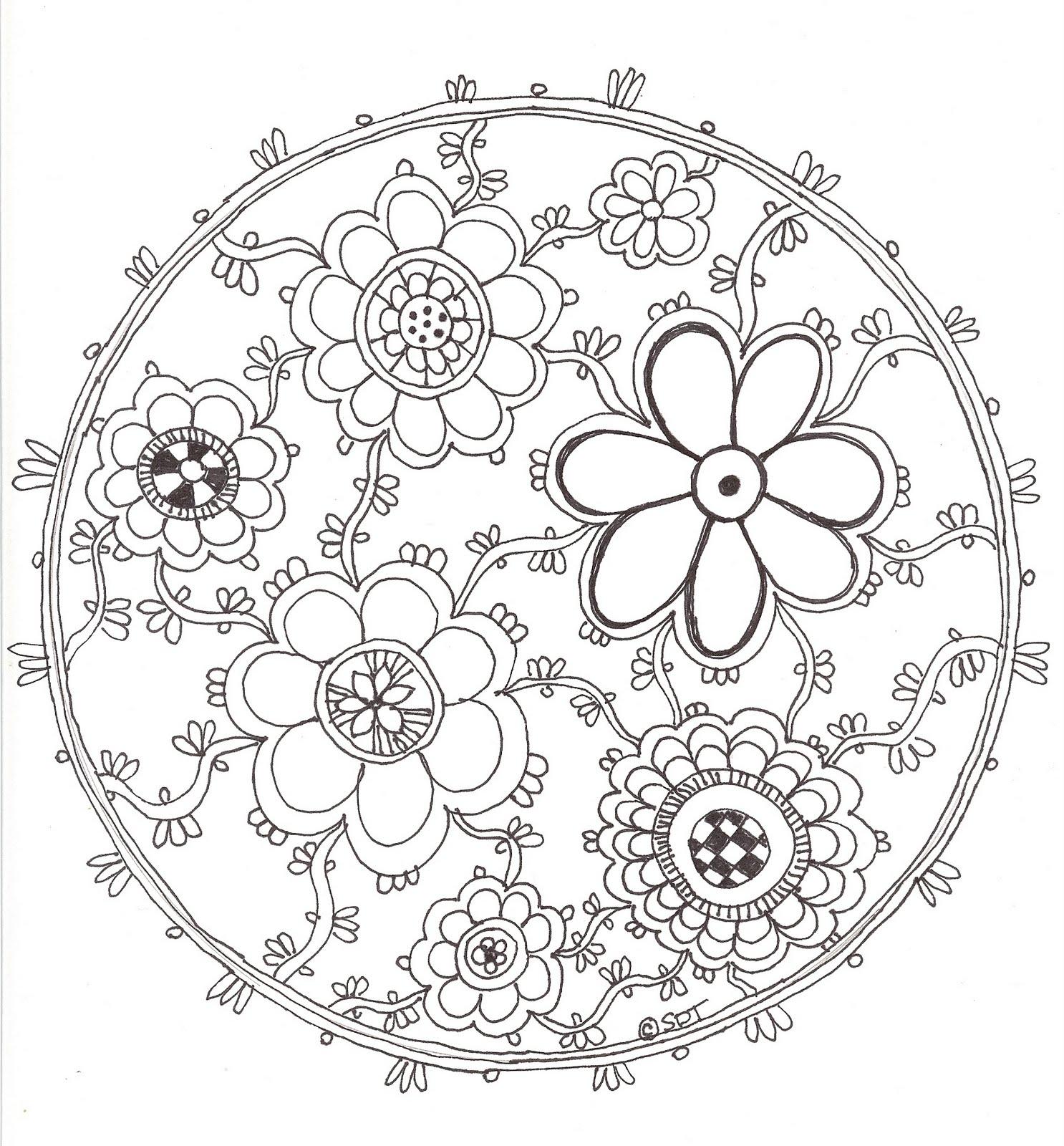 Best HD Lotus Flower Mandala Coloring Pages Image Big