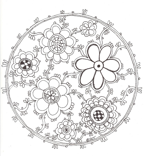 Lotus Flower Mandala To Color