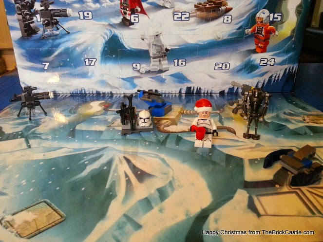 The LEGO Star Wars Advent Calendar December 7th gun turret on backdrop