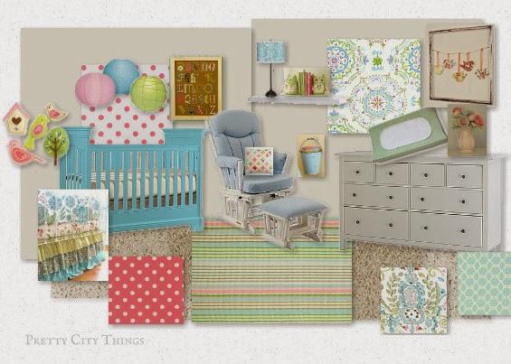 Baby Girl Nursery Mood Board