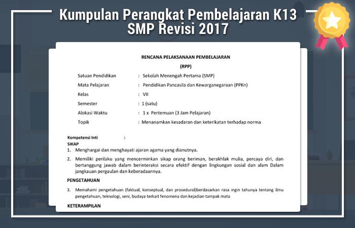 Kumpulan Perangkat Pembelajaran K13 SMP Revisi 2017