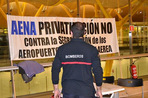 No a la privatización de AENA