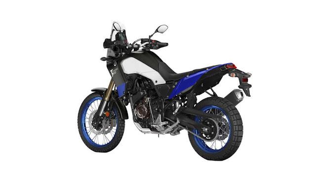 Yamaha Tenere 700 con peso de 205kg (450 libras) en configuración europea