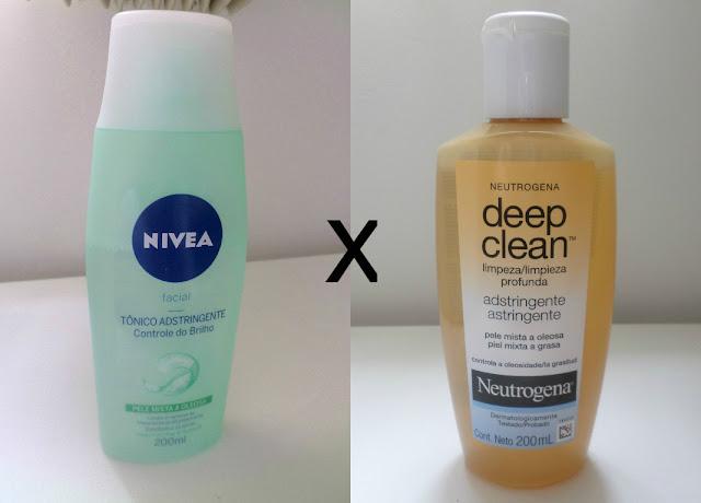 Tônico Nívea Facial x Tônico da Neutrogena Deep Clean