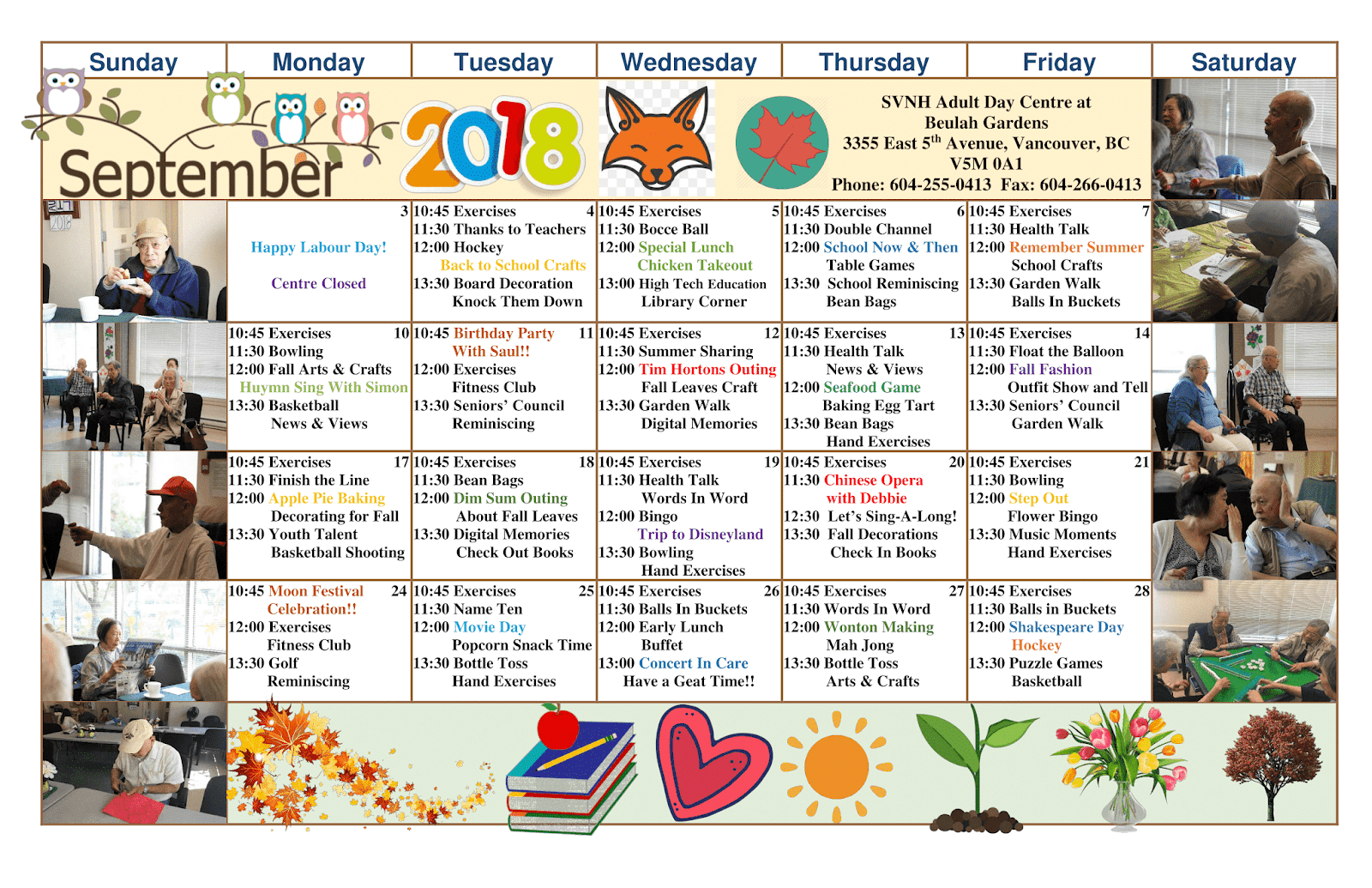 South Vancouver and Beulah Adult Day Programs: Beulah ADP SEPTEMBER