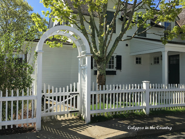 Beautiful archway and fence in Martha's Vineyard