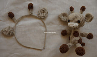 crochet giraffe toy pattern,  crochet giraffe headband pattern
