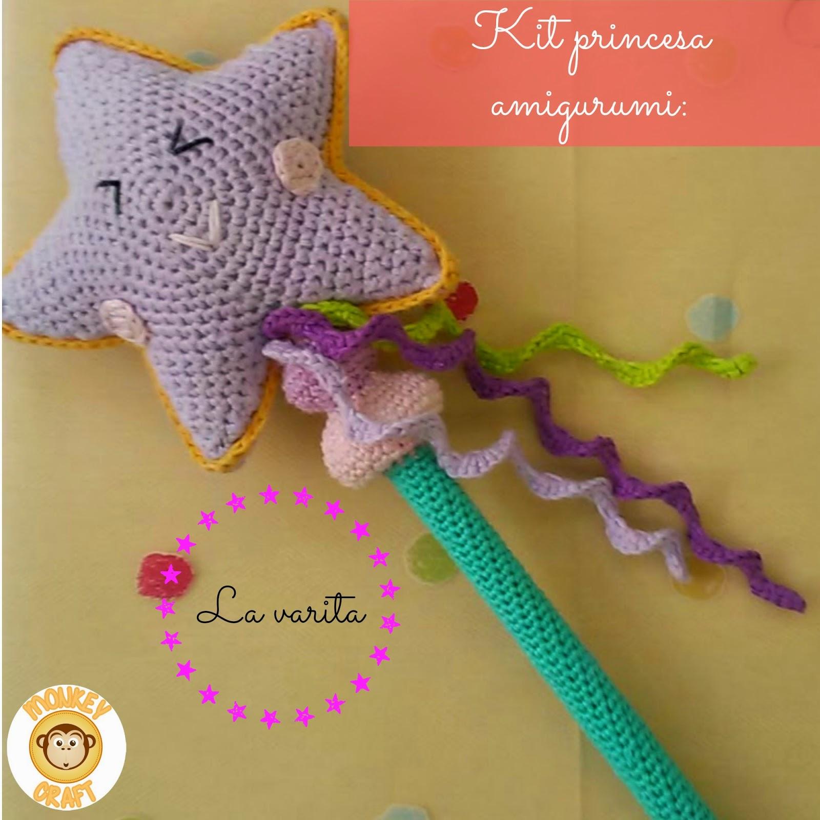 Tutorial Estrella Amigurumi Star : Monkey Craft: Kit princesa amigurumi: la varita magica