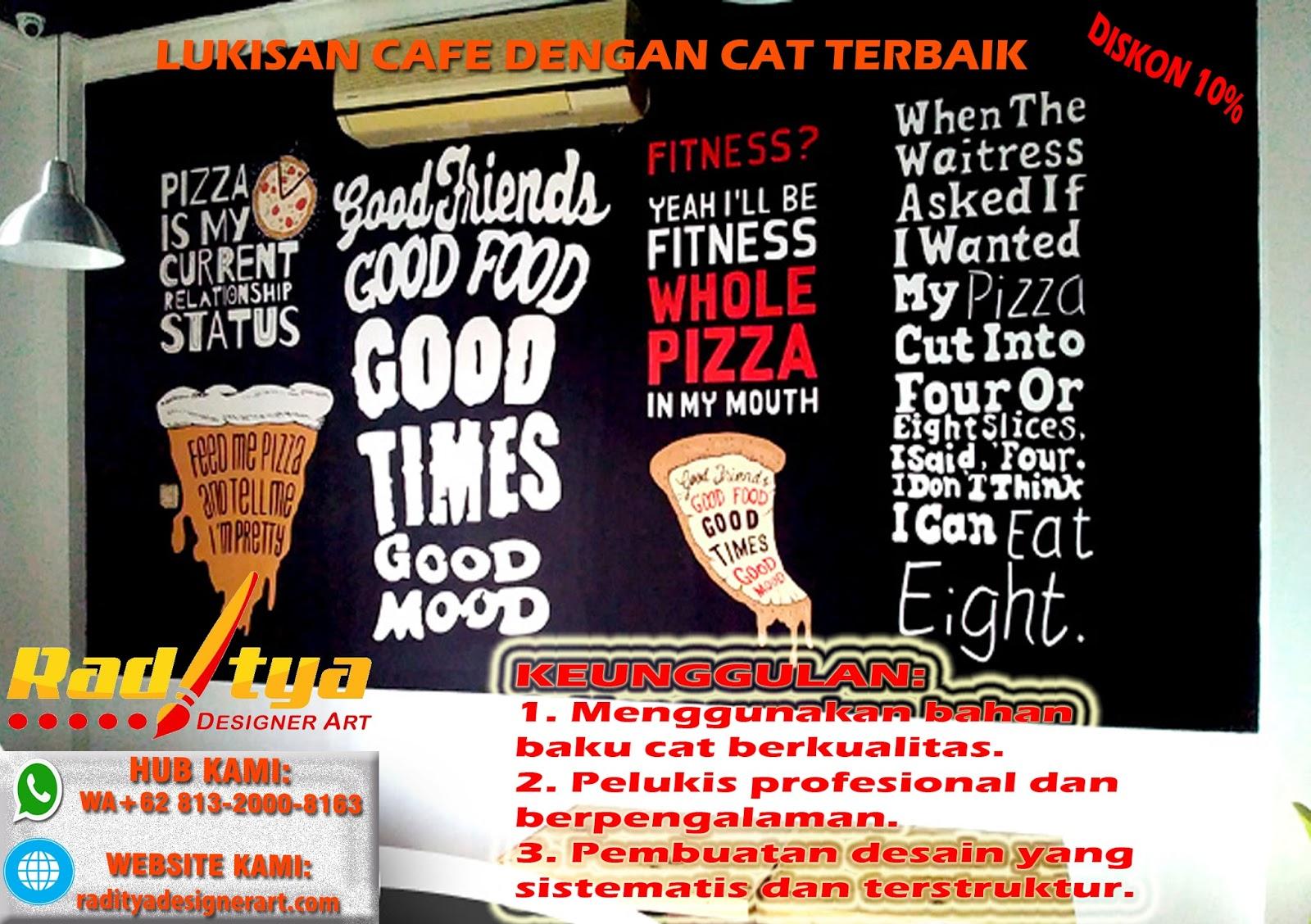 Harga Murah WA 62 813 2000 8163 Jasa Lukisan Dinding Cafe