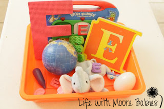 How to Make a Letter E Sensory Bin