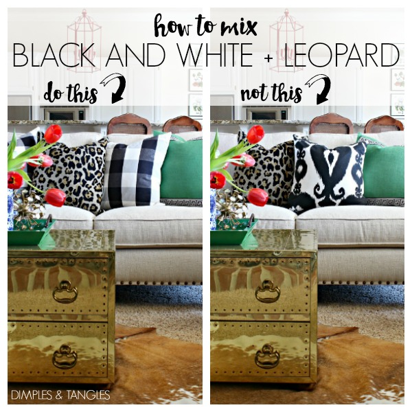 black and white, leopard, throw pillows, home styling, home decor