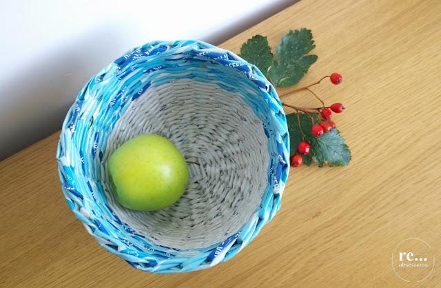 wicker paper, paper art, basket, recycle, hand made, papierowa wiklina, koszyk, miska, rękodzieło