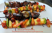 Brown Sugar bacon-wrapped Pineapple & Shrimp Skewers