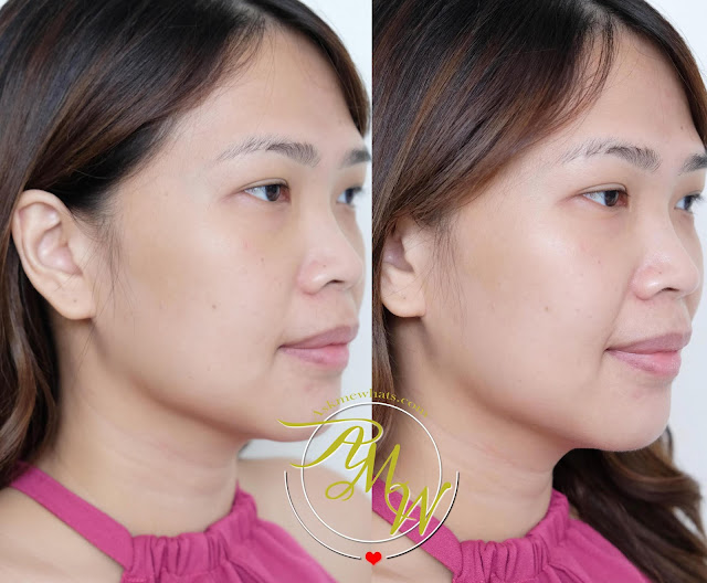 before and after photo of Innisfree Daily UV protection essence sensitive SPF50+ PA++++ 50ml review by Nikki Tiu of www.askmewhats.com