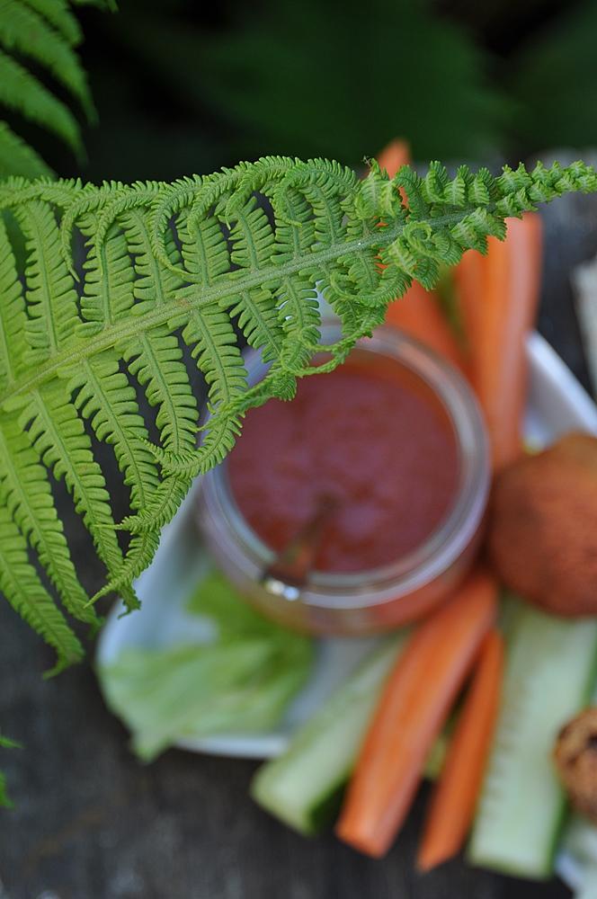 Linsenbällchen vegan mit Dip