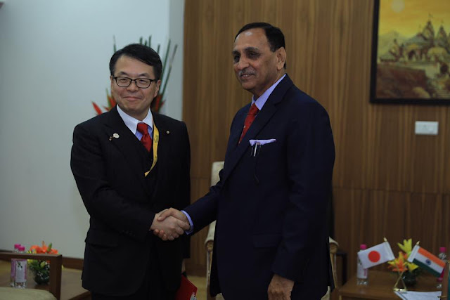 Mr. Hiroshige Seko, Hon'ble Minister of Economy, Trade and Industry, Japan with Hon. Chief Minister of Gujarat