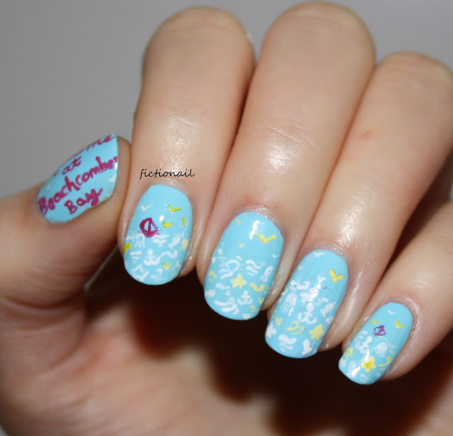 Meet Me at Beachcomber Bay Jill Mansell Nail Art