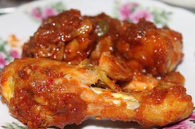 Menu: Ayam Bercili masak ketumbar