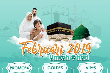 Paket Umroh 9 Hari Februari 2020