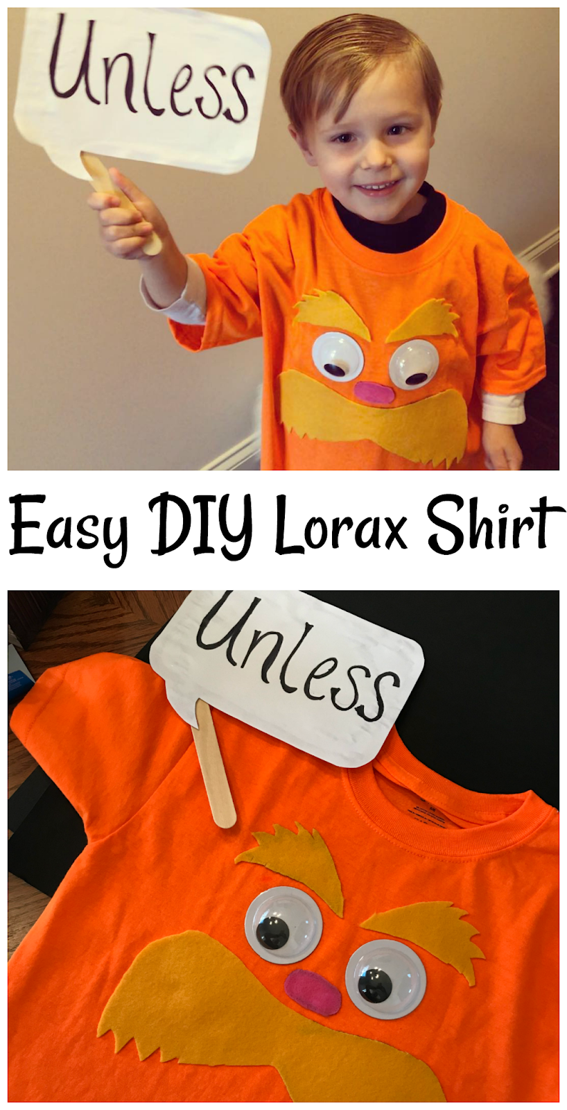Easy Diy Lorax Shirt To Celebrate Dr Seuss Birthday Read