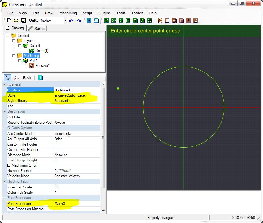 CamBam Configuration Settings | blackTooth DIY Laser Cutter
