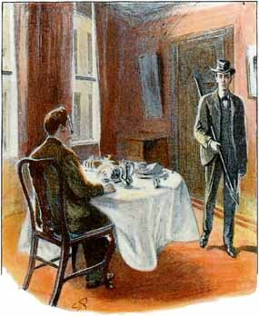 Holmes returns from the butcher shop, with nary a steak nor a pork chop.